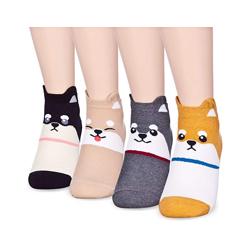 Shiba Inu 4 pairs cute girls socks